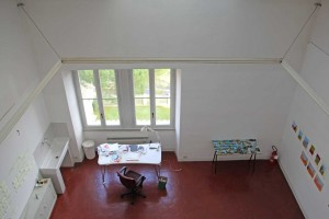 Artist studio in The American Academy in Rome