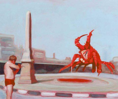 Maz Dixon - Warden of the Desert Marches - oil, graphite and acrylic on board, 56 x 76cm