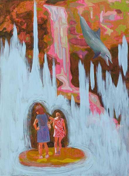 Maz Dixon - Elaborate Underworld - oil, graphite and acrylic on board, 76 x 56cm