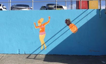 Bondi Sea Wall Mural – The Rough End 2017