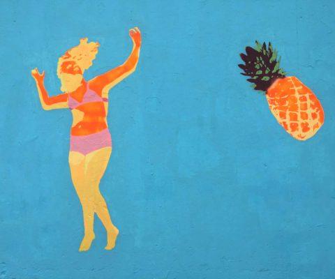 Maz Dixon Bondi Sea Wall Mural